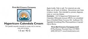 Hypericum Calendula Label