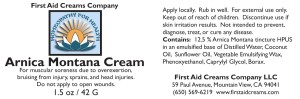 Arnica Montana Cream Label