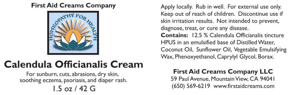 Calendula Cream label