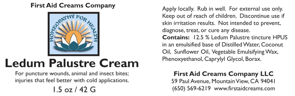 Ledum Cream label