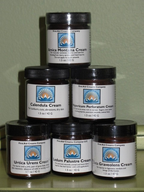Pyramid of 6 Jars from First Aid Creams Company
